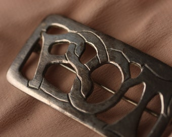 Funky Vintage Silver Pin Marked PSOT