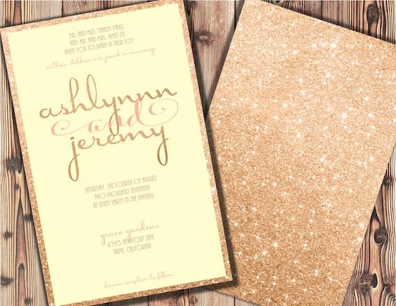 Cream And Gold Wedding Invitations: Rose Gold Wedding Invitations Blush And Cream Wedding