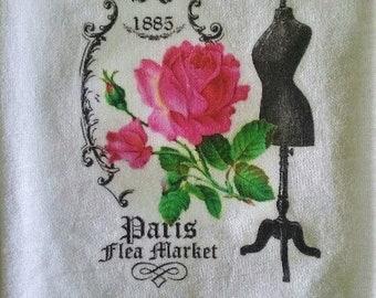 Paris Flea Market Flour Sack towel