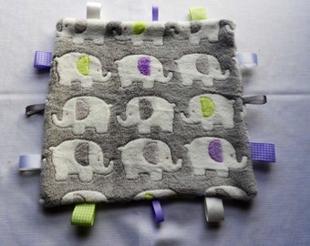 Baby Taggy Blanket/Comforter/Pacifier/Baby Boy/Baby Girl/Baby Shower