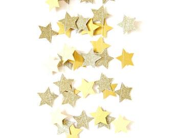 Gold glitter star garland,  - shimmer garland, gold shimmer garland, glitter stars, gold shimmer wedding, gold engagement party,