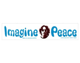 Imagine Peace - John Lennon - Bumper Sticker / Decal or Magnet