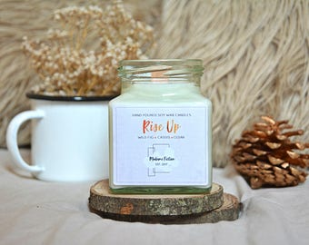 Rise Up - 8oz Candle - Hamilton - Scented Soy Candle - Book Lover Gift