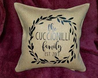 Rustic Personalized Throw Pillow