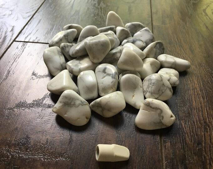 Tumbled White Howlite Stone