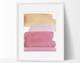 Neutral Abstract Print, Stripe Abstract, Beige Abstract, Abstract Printable, 8x10, 5x7 Abstract Print, Abstract Pink Print, Pink Print.