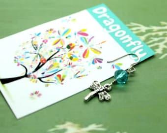 Dragonfly Charm Earrings