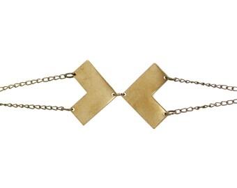 Brass Vertex Bracelet