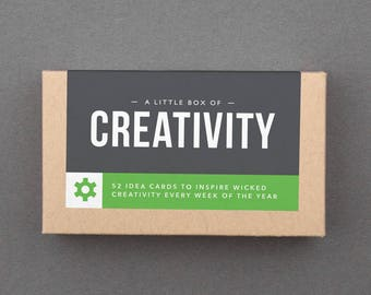 "Creative Box, Fun Cards. Idea Box. Creative Things to Try. Journal Prompts. Creative Life. Gift for Women Friends. ""Creativity"" (L2CRE)"
