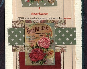 Roses Friendship Thinking of You Original Collage Card