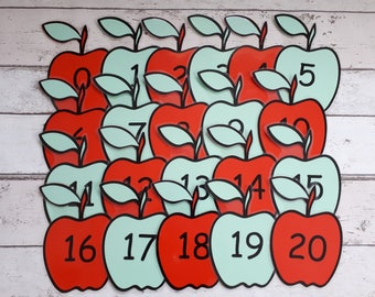 Number line, apple number line, numeracy resource, wall display, classroom display, teach number, teaching resource, count in two's.