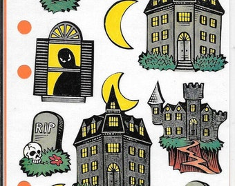 Stickopotamous Haunted House Binder Stickers, Scrapbooking, Mixed Media, Altered Art, Halloween, New and Unused