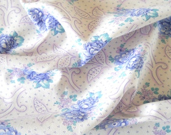 lavender floral fabric lavender fabric french floral patchwork fabric quilting fabric  pillowcases antique lavender flowers  201