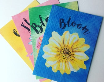 Secret Garden - set of 4 postcards