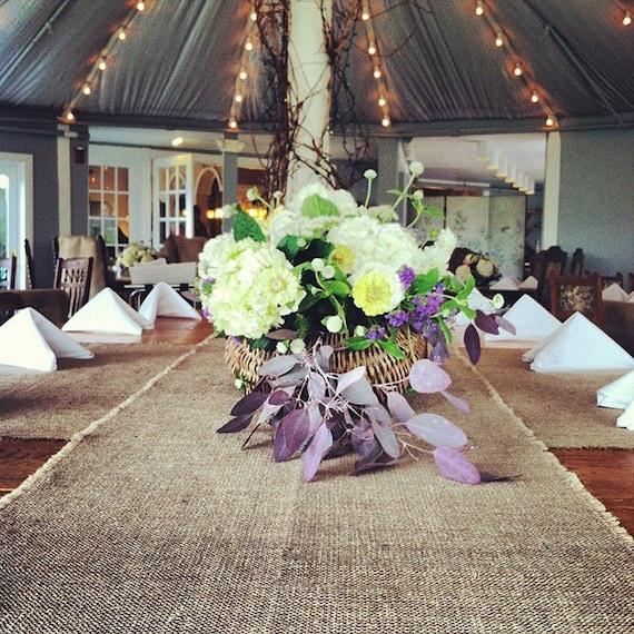 Like this item? & 108 Long Burlap Table Runner Rustic Style Wedding Decor