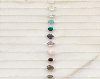Pebble bracelet | Natural gemstones | 14k gold filled & sterling silver