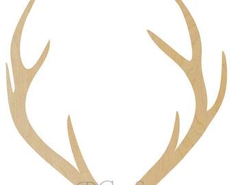 Wooden Antler Shape Style1 - Wooden Antlers, Deer Antlers, Antler Wall Decor, Woooden Antler Decor, Deer Antler Decor