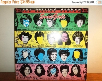 Save 30% Today Vintage 1978 LP Record The Rolling Stones Some Girls Excellent Condition 12150