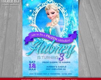 Frozen Birthday Invitation Anna Frozen Invitation Printable