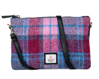 Harris Tweed Zip Purse Bag (various colours)