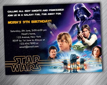Star Wars Party Invitation, Birthday Party Invitation