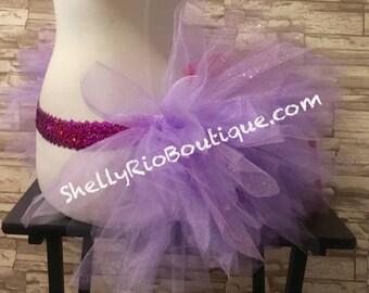 Purple Tutu, Fairy Tutu Skirt, Pixie Cut Tutu, Green Tutu