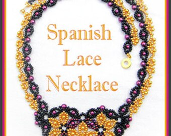 Beading Tutorial - Spanish Lace necklace - Netting stitch