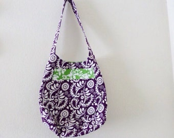 Beach tote bag, bucket tote bag, purple tote bag, market bag, reusable grocery bag, large purse, women's accessory, summer