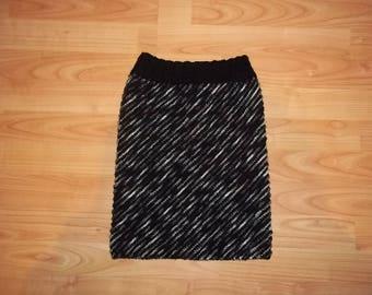 Skirt for girls black and white, size 140-158 cm