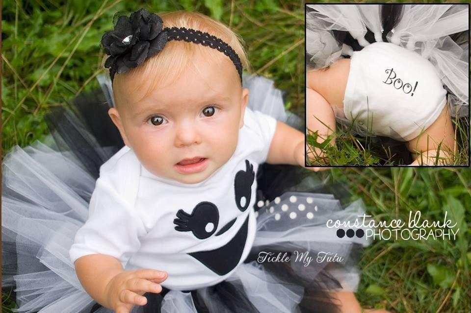 Ghost Tutu Halloween Costume-Baby Girl Ghost Costume-Ghost