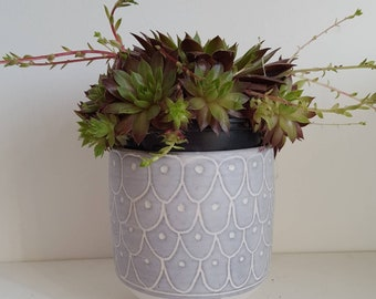 Dove grey pot, ideal for succelents
