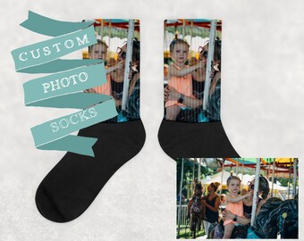 Custom Photo Socks | Personalized Socks | Picture Socks | Personalized Socks | Portrait Socks | Custom Socks Gift | Gift Unisex Crew Socks