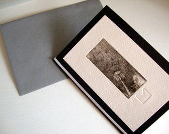 Original etching-1 art card-mourning-engraving-inside empty-condolences-a 6