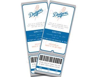 Professionally Printed Dodger Invitation