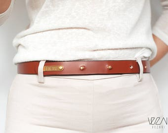 Horse chestnut equestrian horselicious personalised belt gift for horse lover