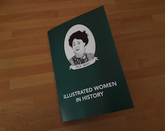 A5 FULL COLOUR - Illustrated Women in History zine feat. 20 Women in History
