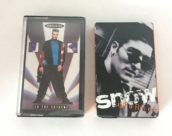 Vanilla Ice - Snow - To The Extreme - Informer - 2 vintage tape cassette - rap - reggae - hip hop music - 90s - Free shipping Canada USA