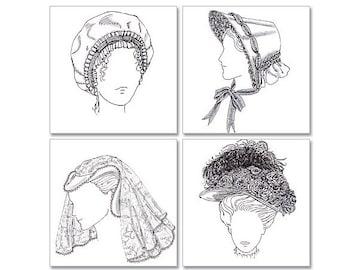 Victorian, Edwardian, Elizabethan, Jane Austen/Regency Style Bonnet Pattern: Butterick Pattern 4210