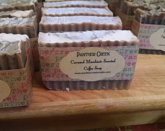 Handmade Soap Made with coffee Caramel Macchiato Fragrance Panther Creek Soap Company Kitchen Soap Bath Soap Christmas Gift