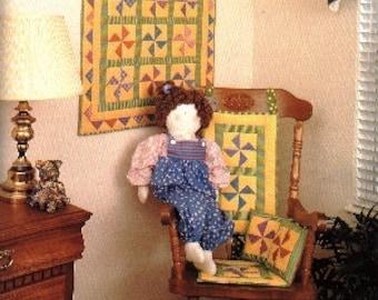 Pinwheel Jacks Baby Crib Quilt - Toddler Lap Blanket - Nursery Wall Decor - Baby Shower Gift