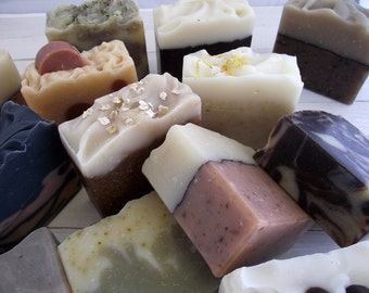 Your choice of 8 Handmade All Natural Cold Process Soaps