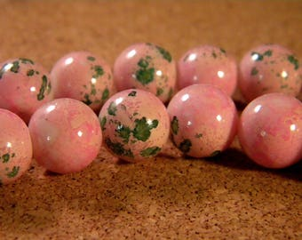 """10 pearls glass 12 mm-pink - PE176 """"reality"""""""