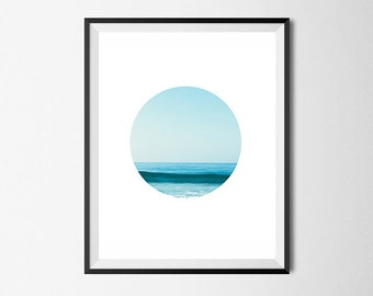 Ocean Print, Wall Art, Simple, Gallery Wall Art #84