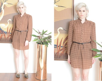 Vintage brown Secretary Dress