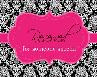 Reserved for Grace DIY Vinyl Decals Make Your Own Custom Mirror or Shadow Box