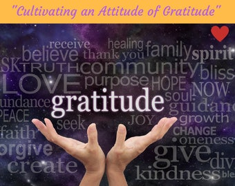 DIGITAL DOWNLOAD, Cultivating an Attitude of Gratitude  Audio Meditation, Direct Download Link