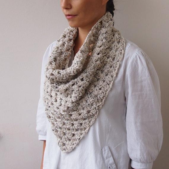 Crochet Pattern Triangle Scarf Granny Cowl Neckwarmer Infinity