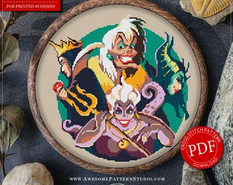 Villains Cross Stitch Pattern for Instant Download *P020 | Easy Cross Stitch| Counted Cross Stitch| Modern Cross Stitch