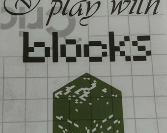 Misfit:  I play with blocks Minecraft decal