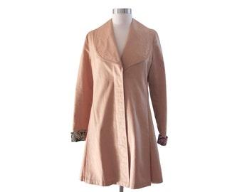 SALE Vintage Trench Coat, Beige Cotton Coat, 60's coat, Tan Coat, Rain Coat, KINETIC Brand, Size Small (US 4), Authentic Vintage, Spring
